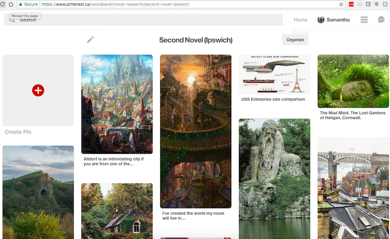 novel world-building in pinterest